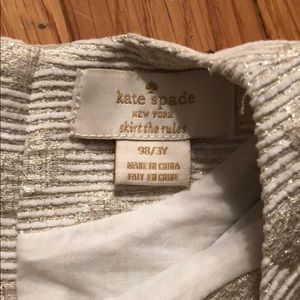 kate spade Dresses - Kate spade gold party dress Size 3y